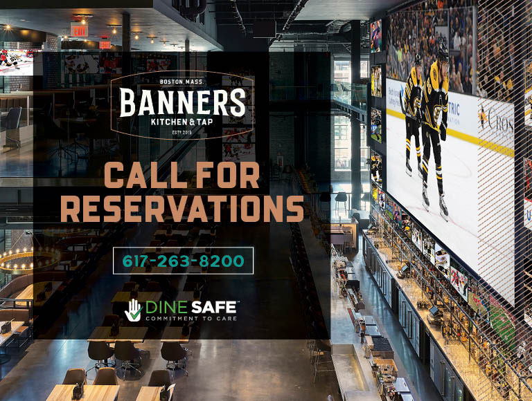 Make a reservation at Banners | Call 617-263-8200