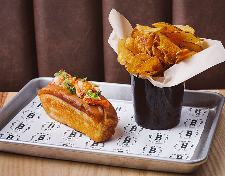 Lobster Roll served at Banners Kitchen & Tap near TD Garden