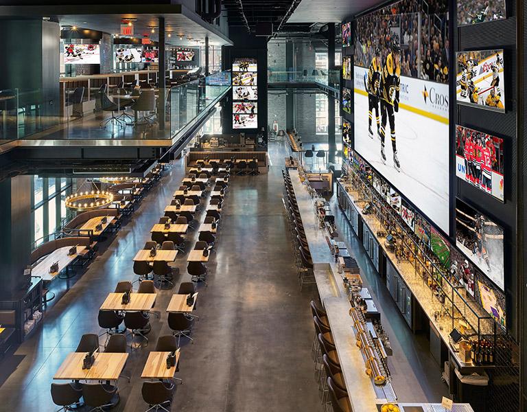 Banners Kitchen & Tap restaurant interior in Boston, MA