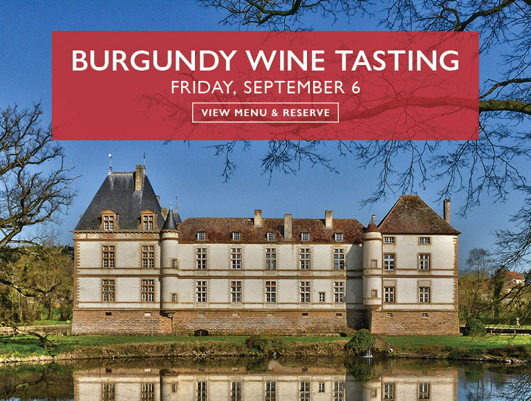 View Menu & Reserve | Burgundy Wine Tasting at Cafe Centro on Friday, September 6