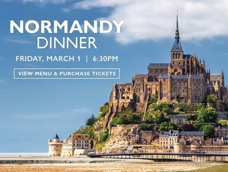 View Menu & Purchase Tickets for Normandy Dinner, Friday, March 1, 2019 | MetLife Building restaurant, NYC