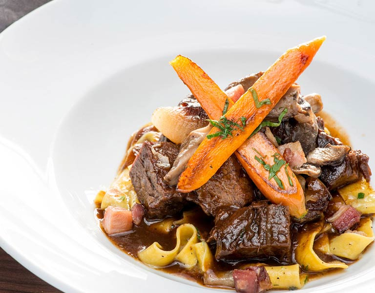 Beef Bourguignon Entree, Dining at MetLife Building, NYC