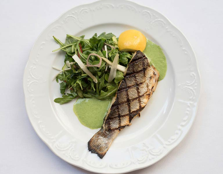 Whole Branzino, Mediterranean Restaurant, NYC