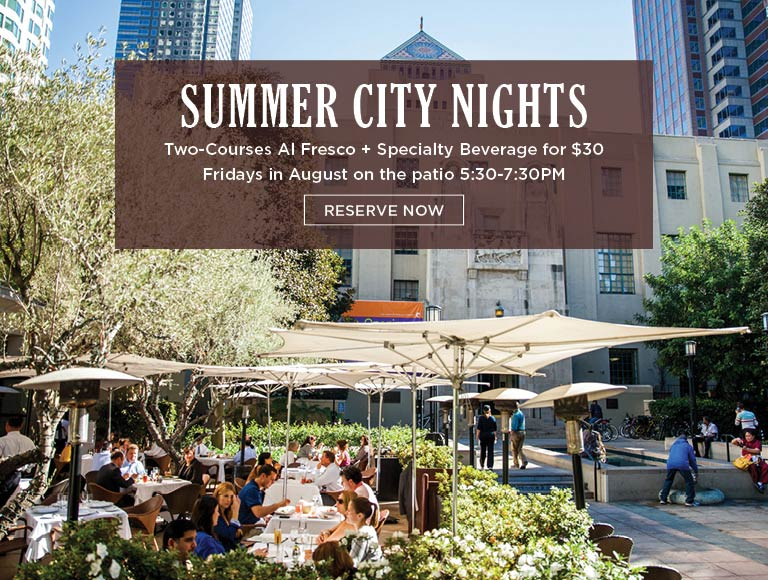 View Menu for Summer City Nights, Cafe Pinot on the patio