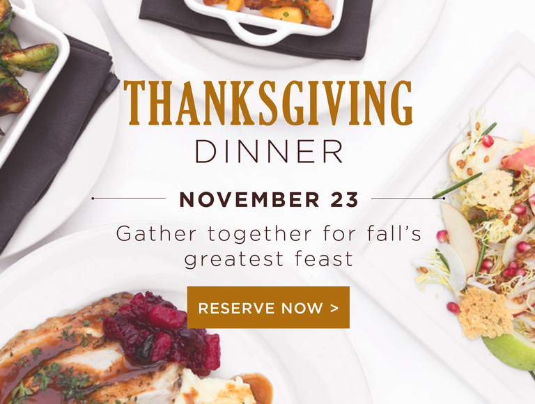 Reserve Now for Thanksgiving Dinner at Cafe Pinot