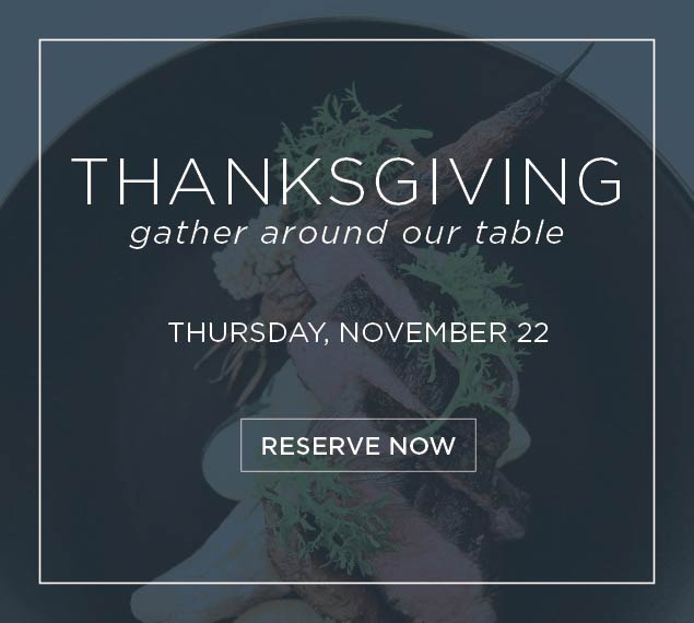 Reserve Now for Thanksgiving at Cafe Pinot