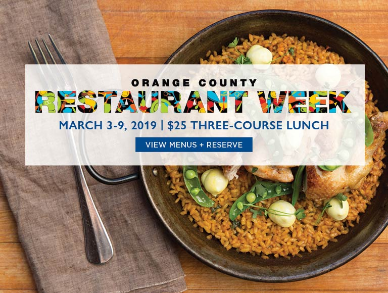 View Menu & Reserve for Orange County Restaurant Week | March 3-9 | $25 Three-Course Lunch