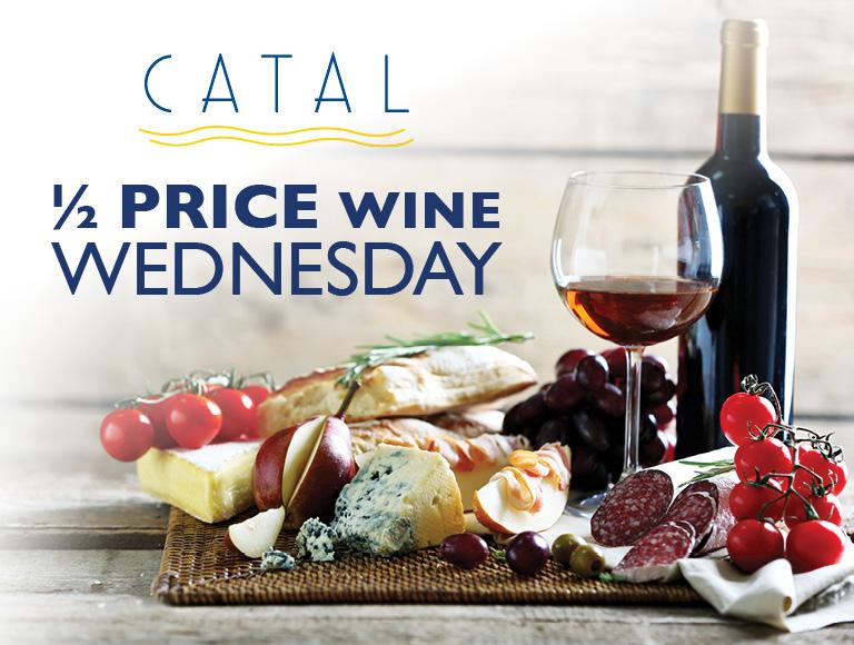 1/2 price Wine Wednesday | Catal Restaurant in Anaheim, CA
