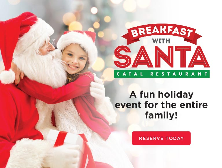 Breakfast with Santa at Catal, Downtown Disney restaurant