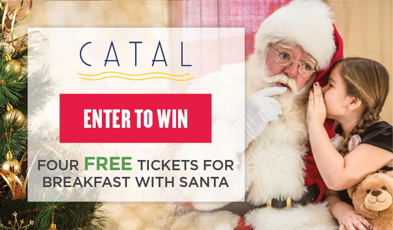 Enter to win four free tickets for Breakfast with Santa at Catal Restaurant in Downtown Disney Anaheim