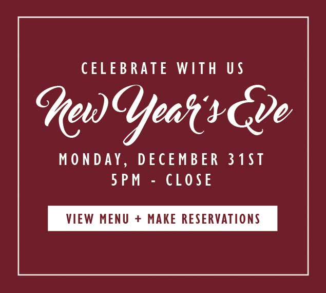 View Menu and Reserve Now For New Year's Eve Dinner