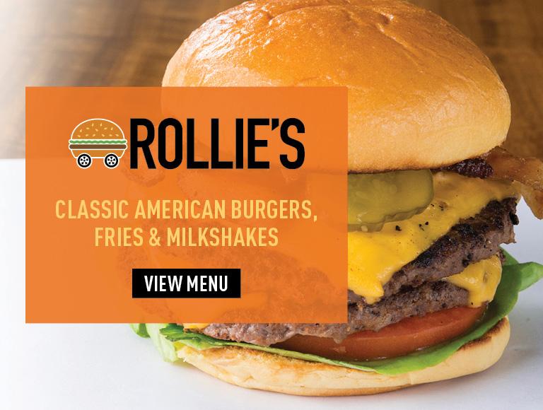 View Menu | Rollie's | Classic American burgers, fries & milkshakes