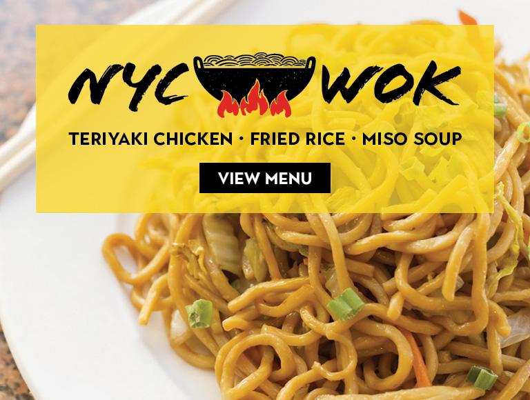View Menu | NYC Wok | Teriyaki Chicken. Fried Rice. Miso Soup