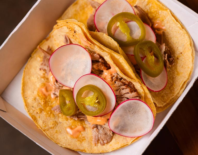 Pork Tacos, Macy's Herald Square, New York City