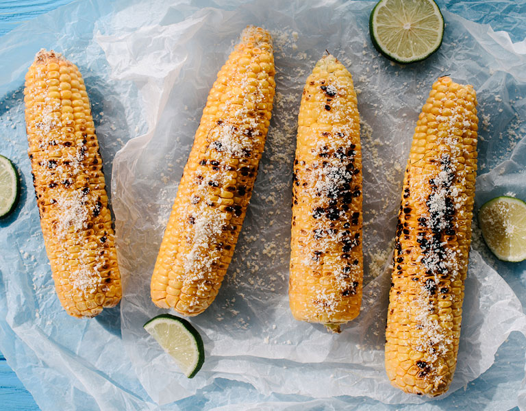 Street corn served at Chef Street in NYC