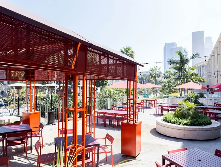 Outdoor Patio Seating, Music Center, Los Angeles