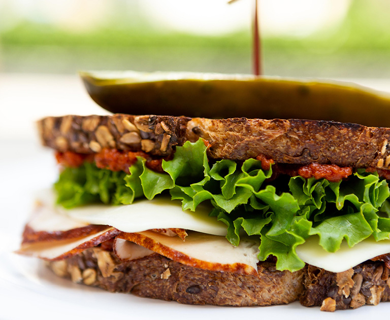 Freshly Made Sandwiches at Colorado Kitchen Food Hall in Santa Monica