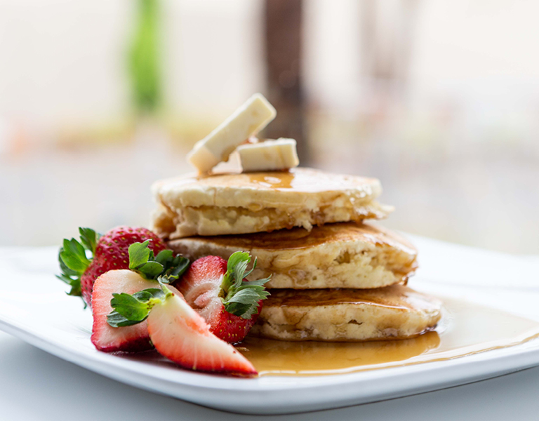 Coffee and Breakfast Menu featuring Fresh, Hot Pancakes at Colorado Kitchen in Santa Monica, CA