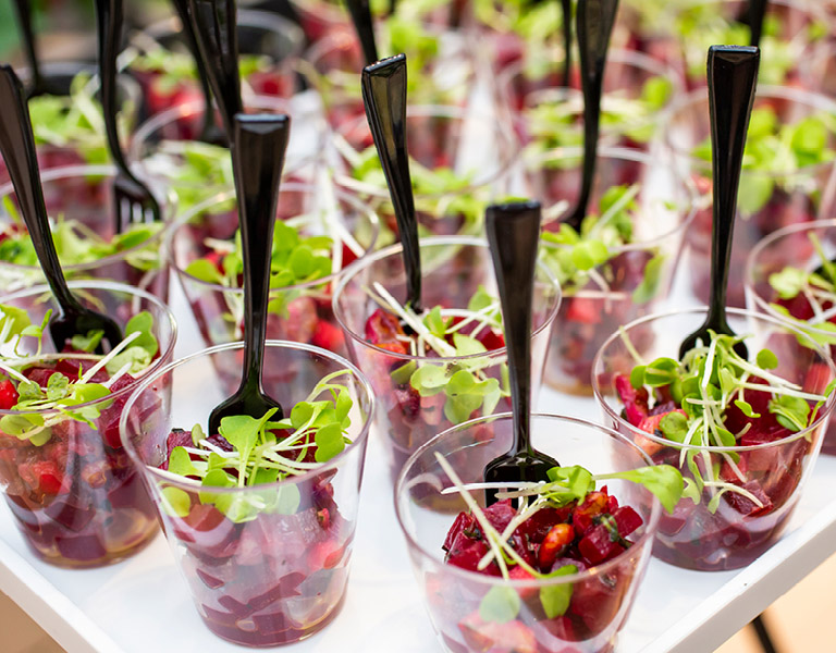 Beet salad served at an event catered by Colorado Kitchen in Santa Monica, CA