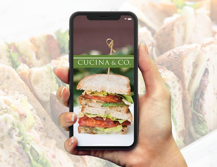 Mobile App image alt - Cucina & Co Grab and Go Mobile App Experience