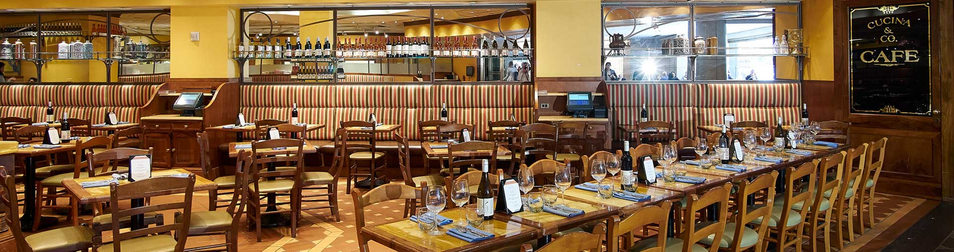 Private event dining room at Cucina & Co. Rockefeller Center in midtown NYC