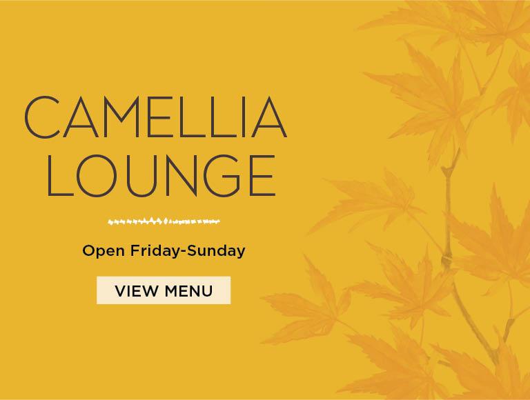Camellia Lounge | Open Friday to Sunday
