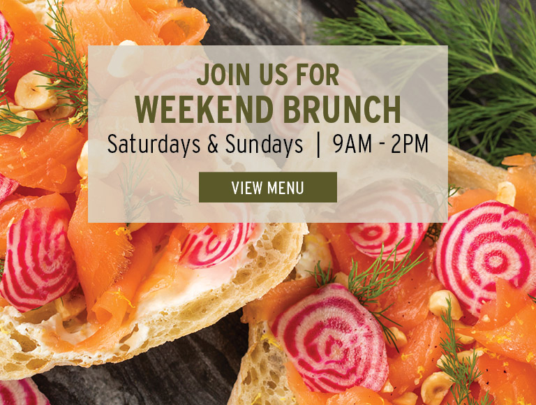 View Menu | Join us for weekend brunch | Saturdays & Sundays | 9AM - 2PM