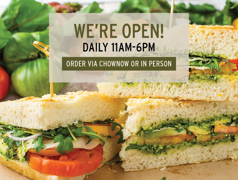 We're Open Daily 11am-6pm | Order Now Via ChowNow or In Person