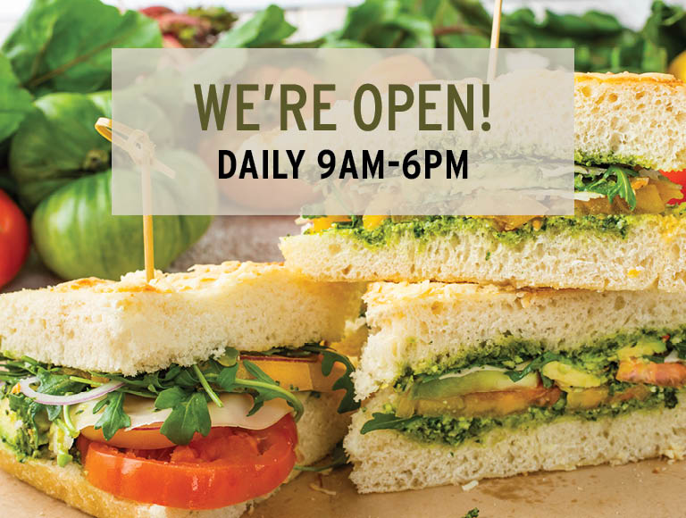 We're Open! Daily 9am-6pm | Skip the line and order ahead via ChowNow