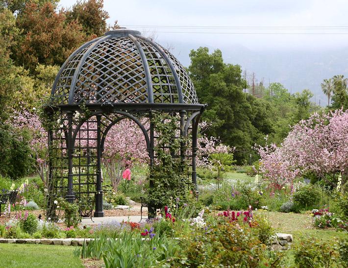 Rose Garden outdoor event space at Descanso Gardens in La Cañada Flintridge, CA