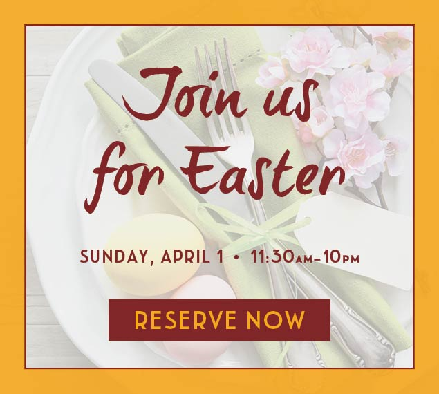 Reserve Now For Easter