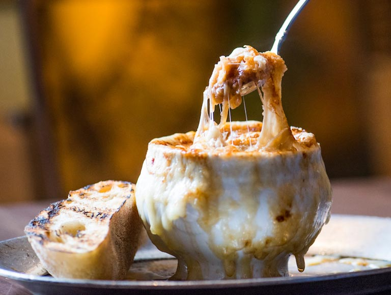 French Onion Soup - French Brasserie DTLA