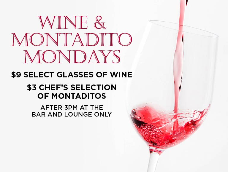 Wine and Montadito Mondays, MetLife Building Drink Specials