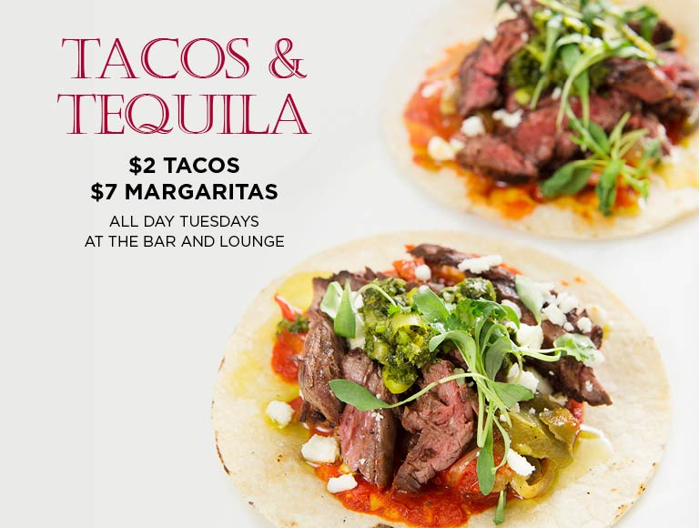 Tacos & Tequila Deals All Day Tuesdays
