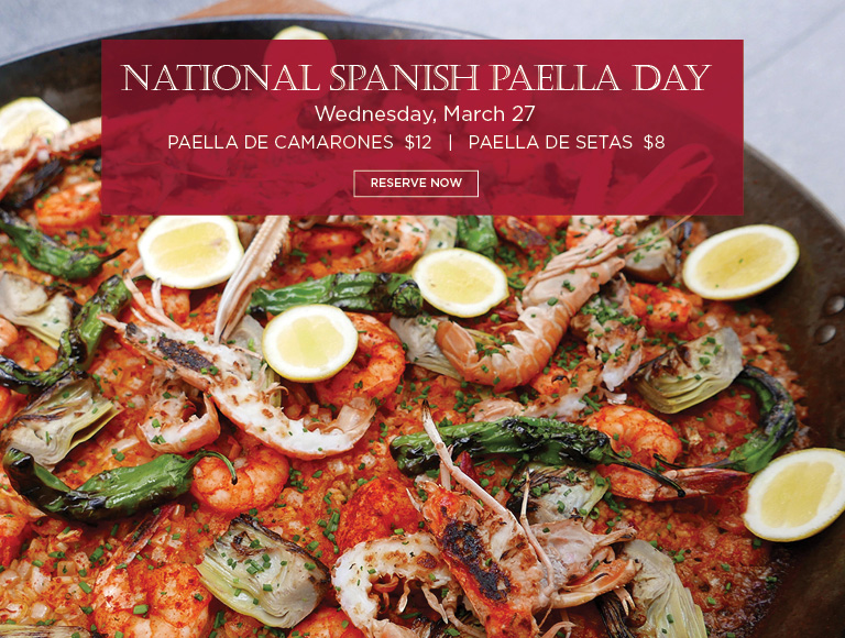 Reserve Now for National Spanish Paella Day | March 27 | Spanish Dining Midown, NYC