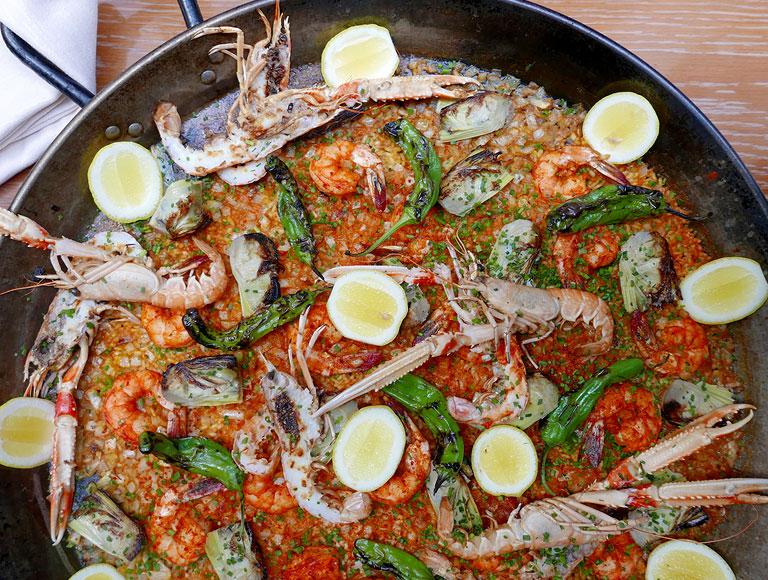 Spanish Seafood Paella   Spanish Dining Midtown, NYC