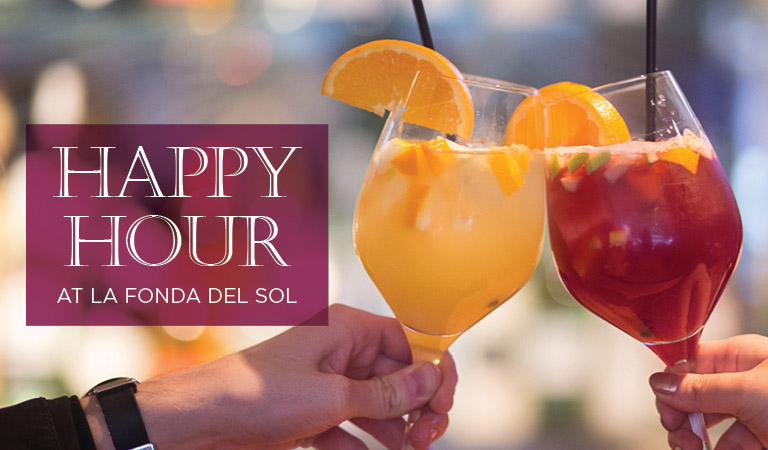 Happy Hour at La Fonda del Sol, a Spanish restaurant in NYC