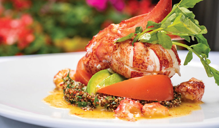 Lobster served at La Fonda del Sol in midtown NYC