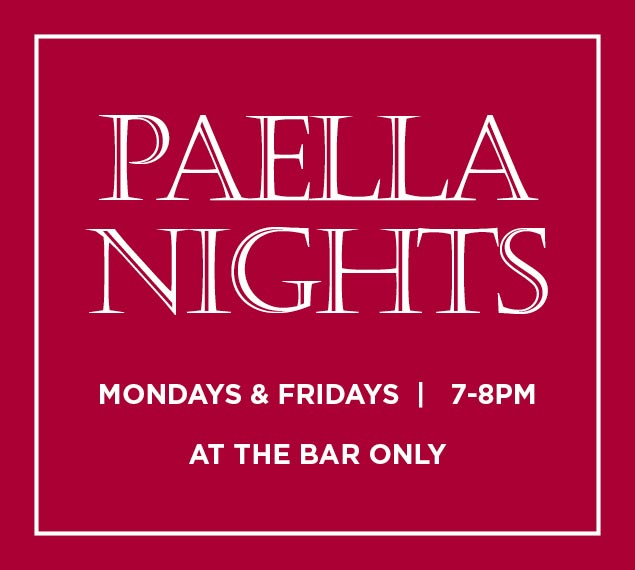 Complimentary Paella Nights