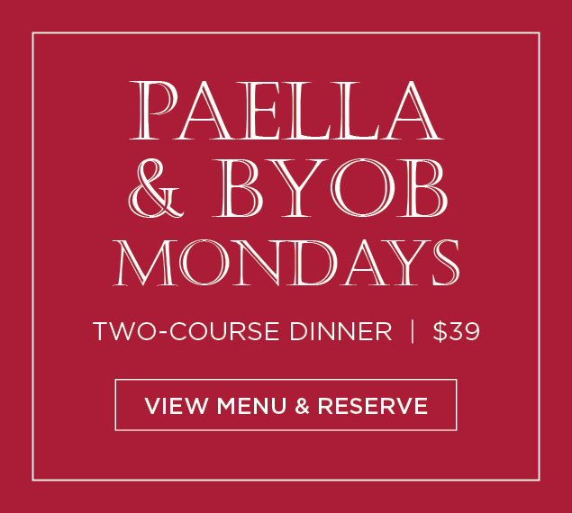 View Menu & Reserve | Paella & BYOB Mondays at La Fonda del Sol in NYC | Two-Course Dinner | $39