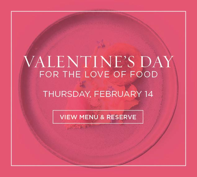 View Menu for Valentine's Day
