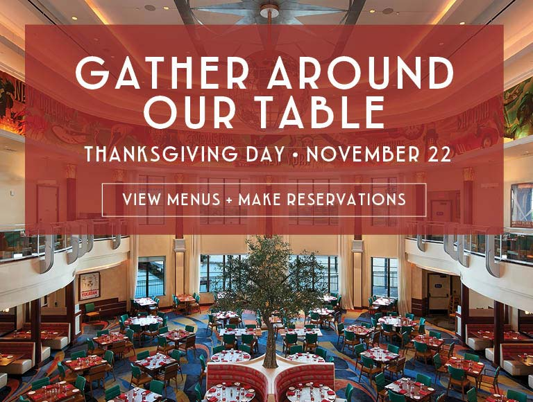 View Menus & Reserve for Thanksgiving Day at Maria & Enzo's, Disney Springs