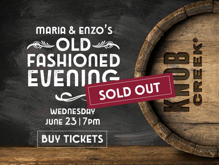 Join us for an Old Fashioned Evening at Maria & Enzo's on Wednesday, June 23 at 7pm