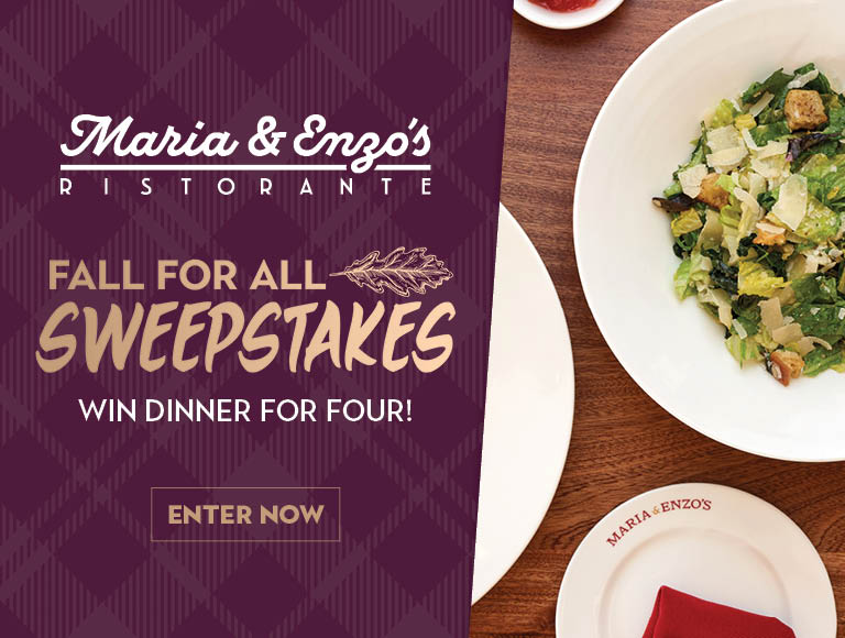 Win dinner for four at Maria & Enzo's