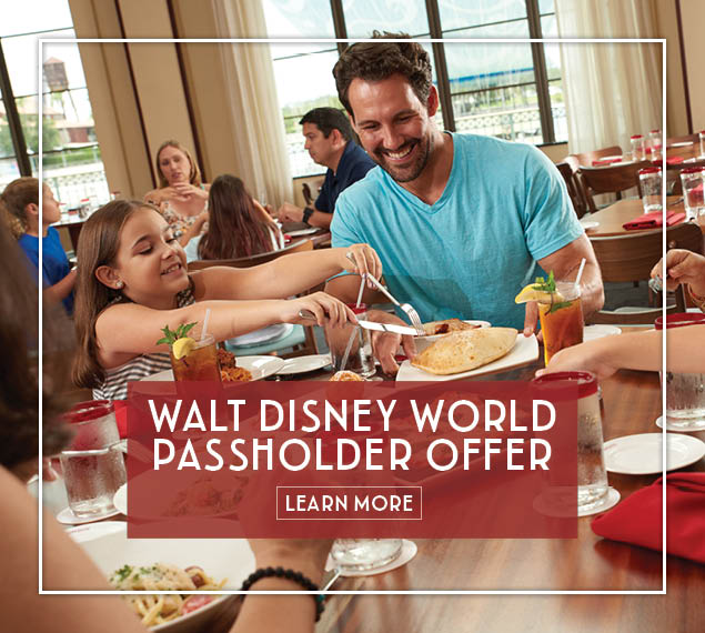 Walt Disney World Passholders receive a discount on Lunch -  Learn More