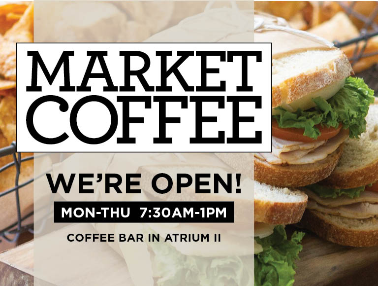 Market Cafe is now open