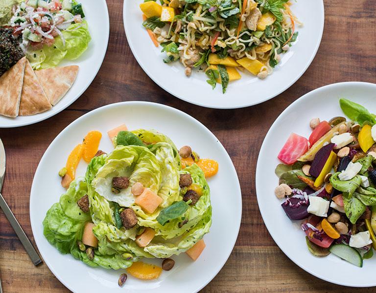 Plates of salad