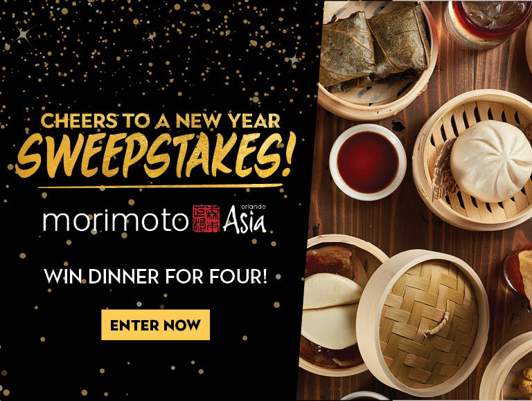 Win a dinner for four at Morimoto Asia