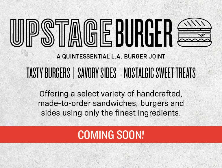 Upstage Burger Coming Soon To The Music Center | Learn More