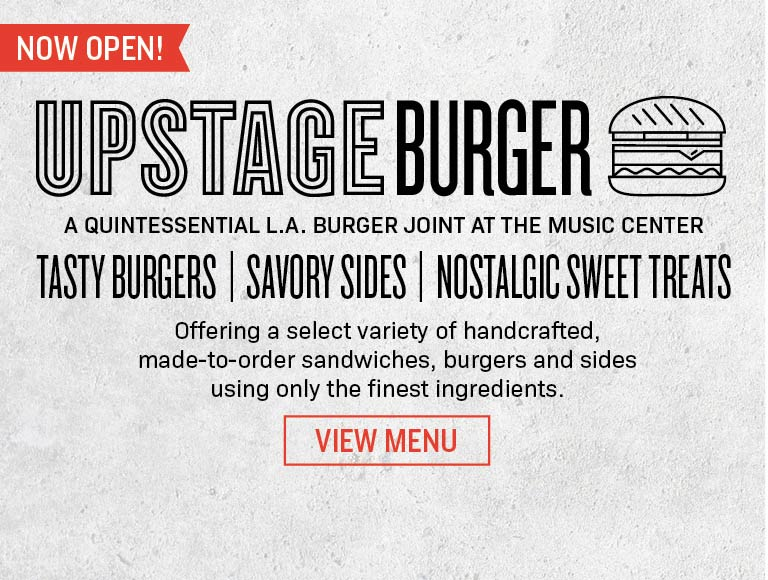Upstage Burger Now Open At The Music Center | View Menu